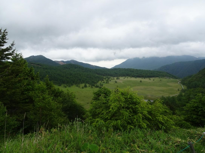 黒斑山には雲が