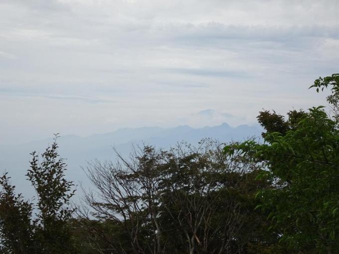 榛名山と薄く浅間山