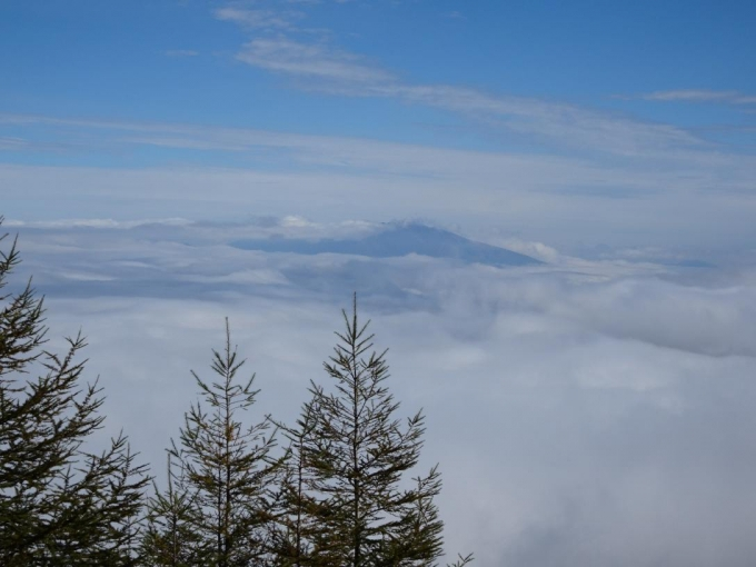 雲海に浮かぶ浅間山