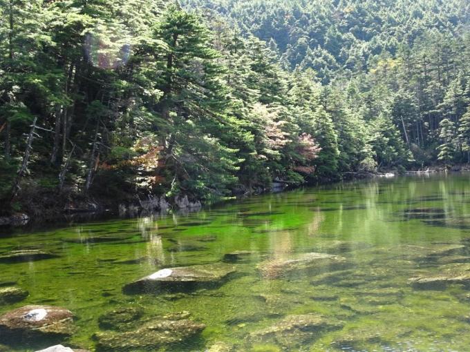 亀甲池の紅葉2