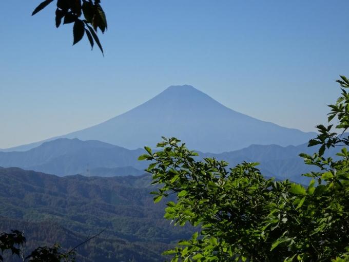 最初に見えた富士山