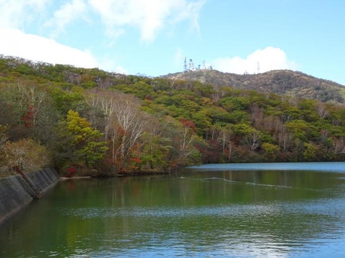 小沼水門から地蔵岳