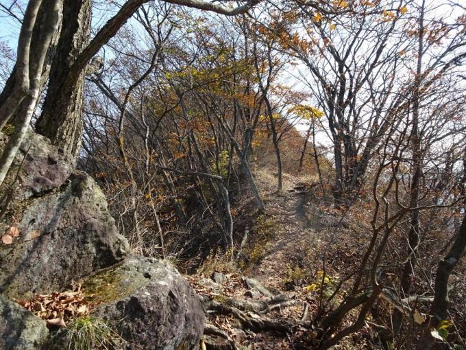 岩場とヤセ尾根