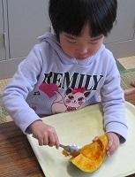 かぼちゃの種取り②