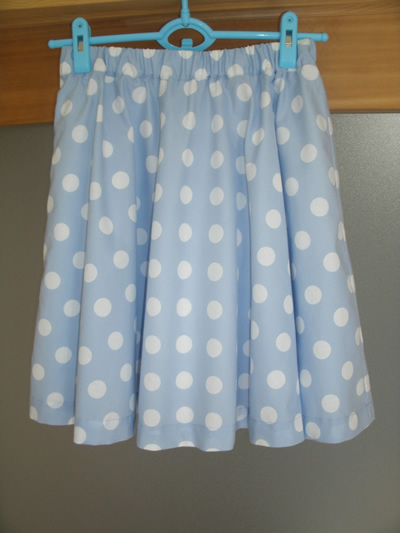 kawaii水玉のサーキュラースカート