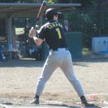 4回表、先頭の田中が内野安打で出塁