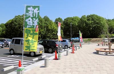 駐車場の幟