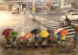 開内和子「雨の日の国道185号」