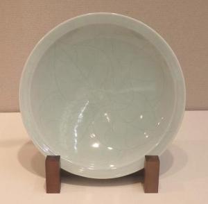 矢野國夫「青白釉皿」
