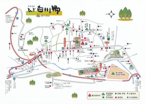 白川郷の地図