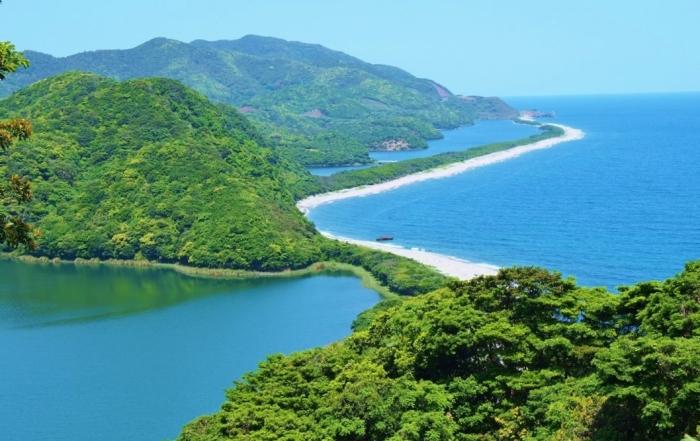 長目の浜り風景