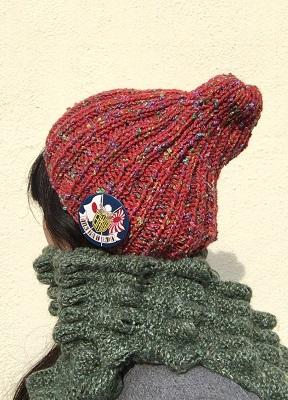 20161028 とんがってない帽子 赤