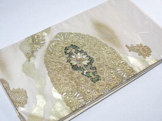 マベ 本真珠 ラデン 袋帯