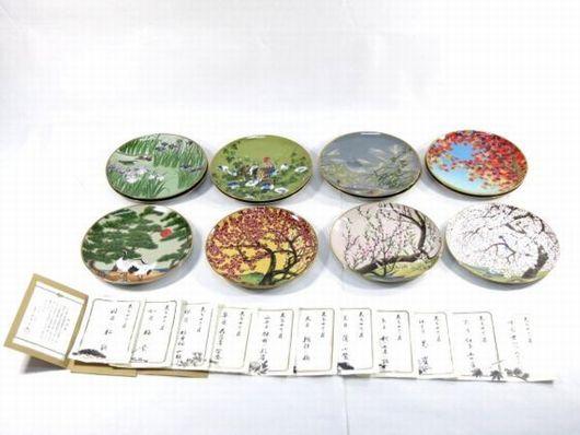 フランクリン ポーセリン 花鳥 十二ヶ月 12枚 飾皿