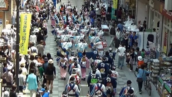 神戸楠公連 新長田下町フェスタ パレード