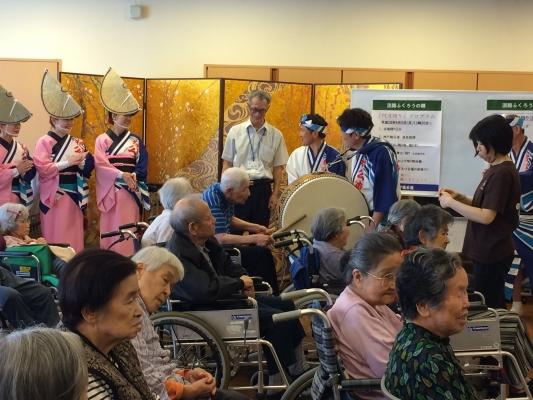 神戸楠公連 淡路ふくろうの郷 阿波踊り 鳴り物体験