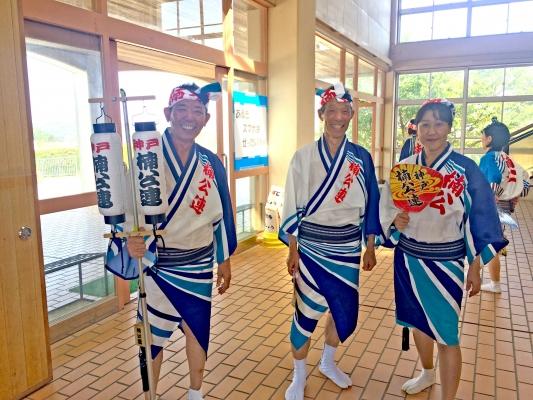 神戸楠公連 有野小学校阿波踊り指導