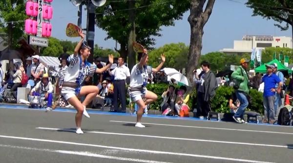 神戸楠公連 姫路お城まつり2016市民パレード 阿波踊り