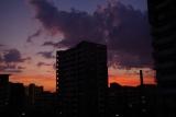 神戸市営名谷駅東住宅からの夕暮れ