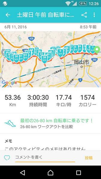 吉備路自転車道16.6.11 結果
