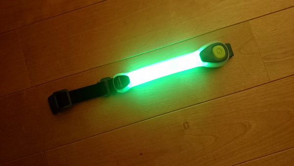 ジェントス LEDセーフティバンド 緑 AX-820GR①