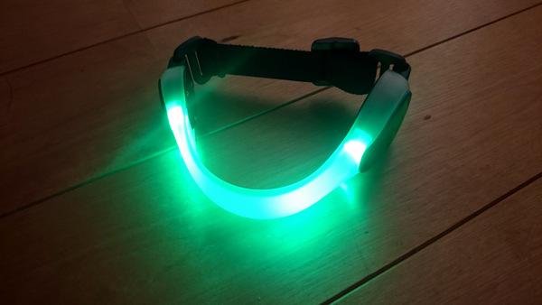 ジェントス LEDセーフティバンド 緑 AX-820GR②