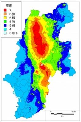 糸魚川静岡断層地震震度