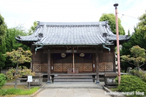 島氷川神社(足立区鹿浜)12