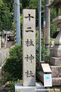 十二柱神社(桜井市出雲)2