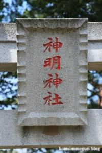 神明神社(川越市萱沼)3