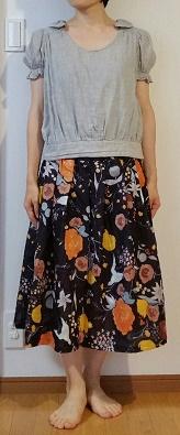 naniIRO簡単すっきりギャザースカート