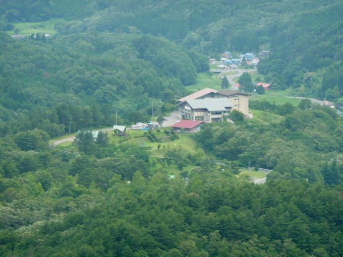 2012年7月 展望台から眺める津黒高原荘