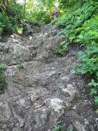 岩場の登り
