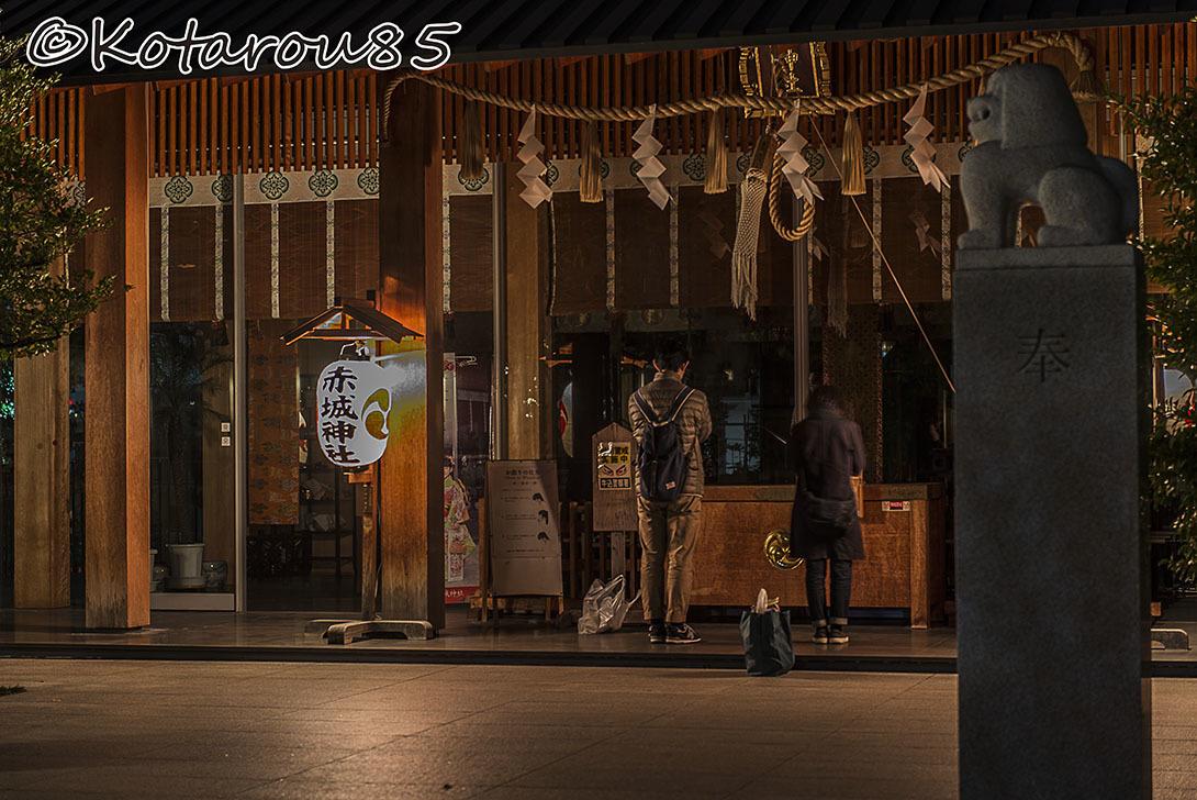 深夜の赤城神社3 20161107