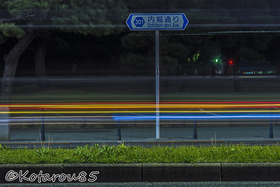 深夜の皇居前 20161108