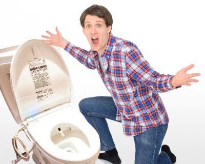 びっくりトイレ男性