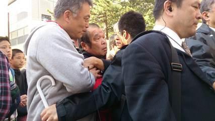 社民党系縣憲法を守る会に抗議9