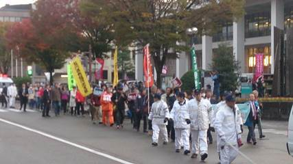 社民党系縣憲法を守る会に抗議18
