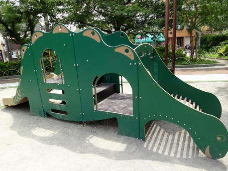 ステゴサウルス滑り台