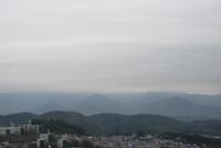 曇りの日、大山消えた