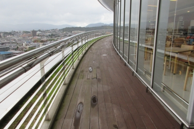松江立病院の屋上