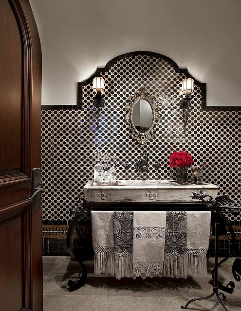 Mediterranean-powder-room-with-black-and-white-beauty.jpg