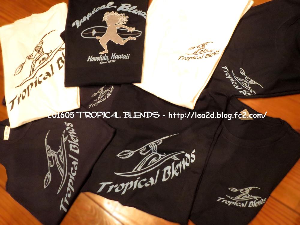 201605 ハワイのローカルショップ、TROPICAL BLENDS (トロピカル・ブレンズ)で作ってもらったSUPなTシャツ ♪