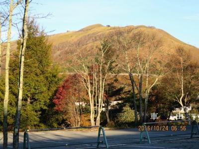 ホテル前から車山