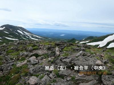 旭岳と裾合平