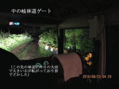 中ノ岐林道ゲート