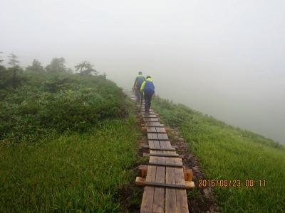 平ヶ岳分岐への木道