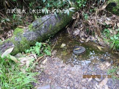 湧水が枯れた白沢清水