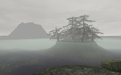霧のメシューム湖