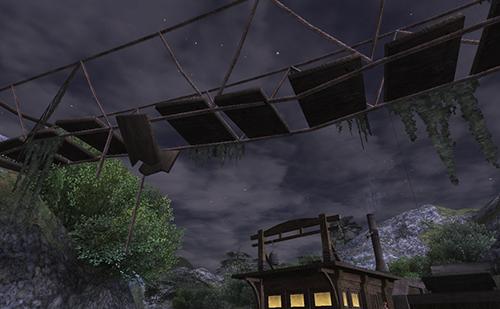 つり橋から本当にモンスターがやってきそうです